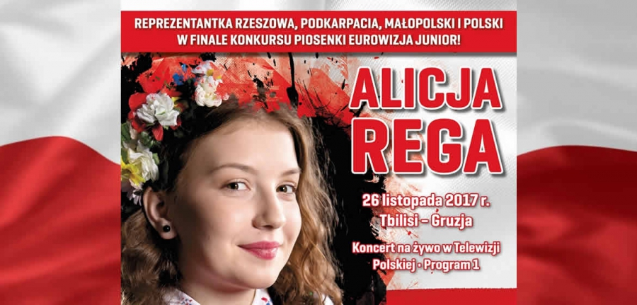 ALICJA REGA – A STUDENT OF THE VOCAL ARTS CENTRE IN RZESZOW. COACHED BY ANNA CZENCZEK, A POLAND'S REPRESENTATIVE FOR JUNIOR EUROVISION SONG CONTEST IN GEORGIA ON 26th NOVEMBER 2017!!!